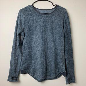 Gray Long Sleeved Fleece Shirt